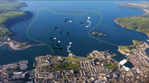 America's Cup Plymouth Race Course Map