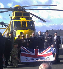 Plymouth Armed Forces Day Flag Handover 2012