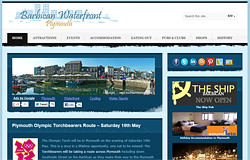 Advertising on the Plymouth Barbican Waterfront website