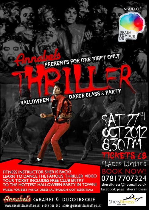 Annabel Halloween Thriller Dance Class Charity Night
