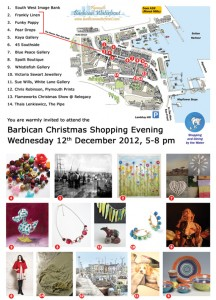 Plymouth Barbican Late Night Christmas 2012 Flyer