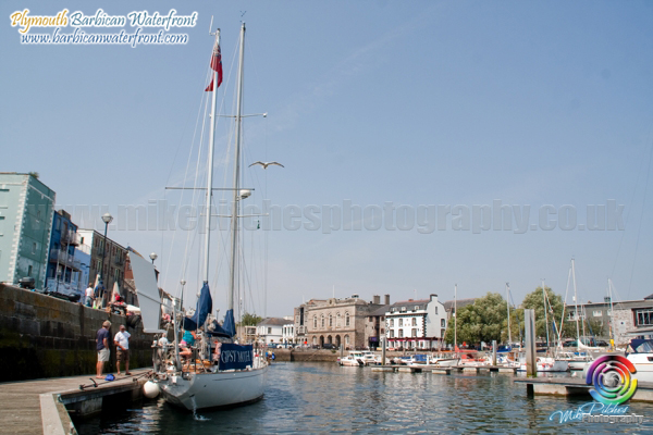 Photos – Gipsy Moth IV in Sutton Harbour 2013 – Plymouth Classic Boat Rally