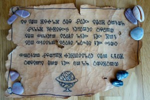 ancient seaworn scroll found with the pearl