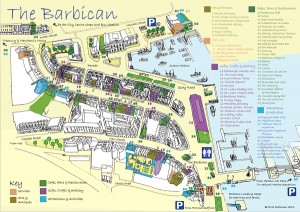 Official Plymouth Barbican Map and Guide 2014 Small