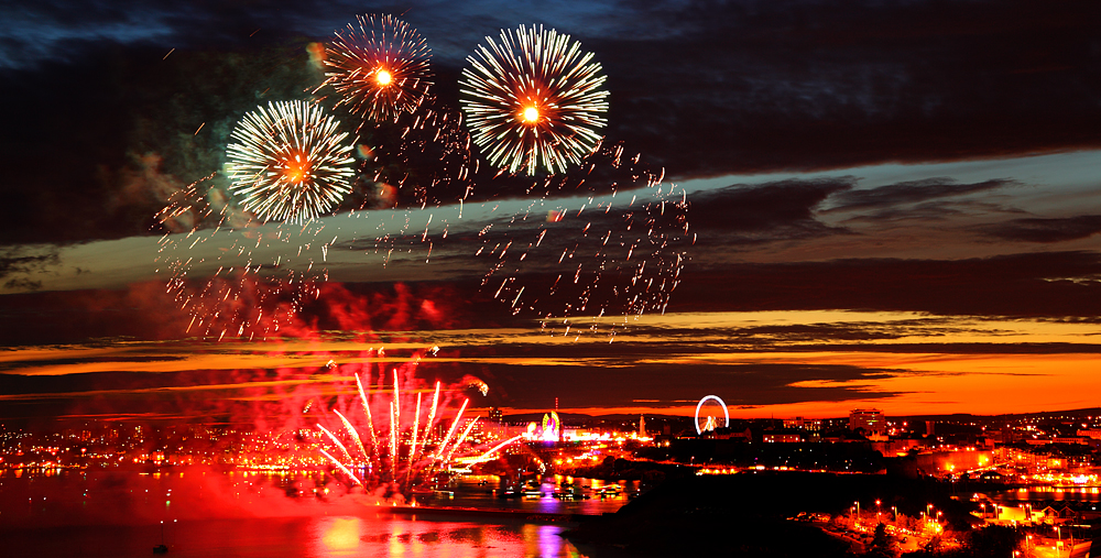 British Fireworks Championship in Plymouth