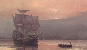 Mayflower Ship in the Harbour