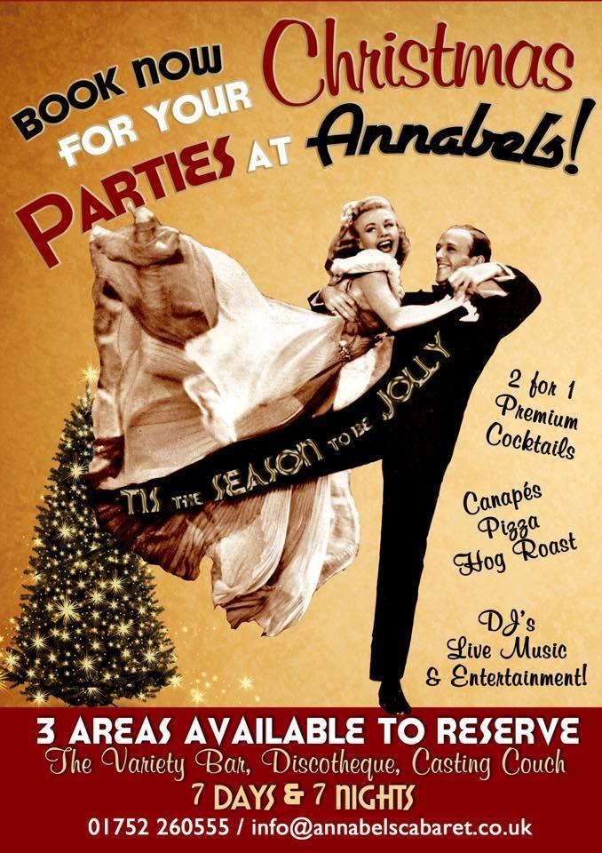 Annabels at Christmas Parties Barbican Plymouth 2014