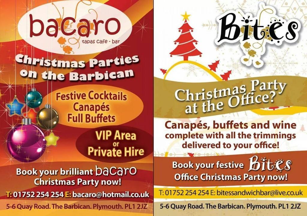 Bacaro and Bite Barbican Plymouth Christmas