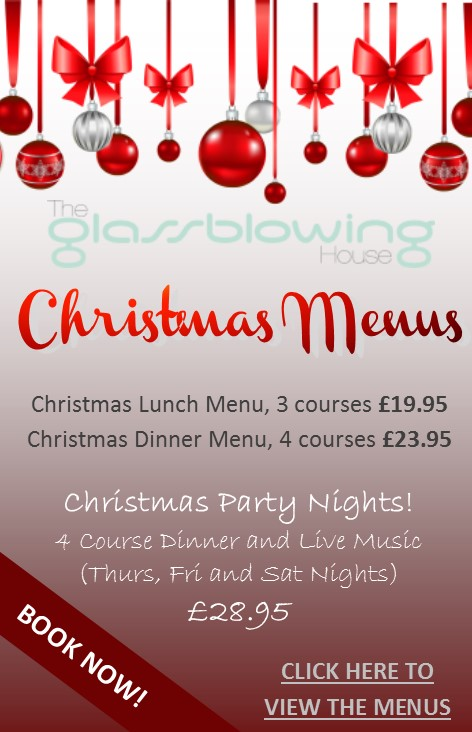Glass Blowing House Christmas Menu 2014