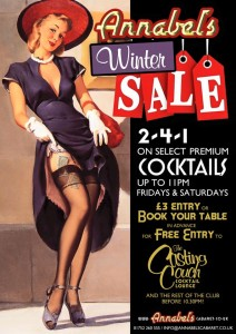 Annabel's Cocktail Winter Offer