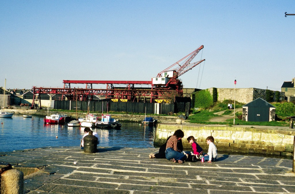 Plymouth Barbican 1991 before the footbridge 1