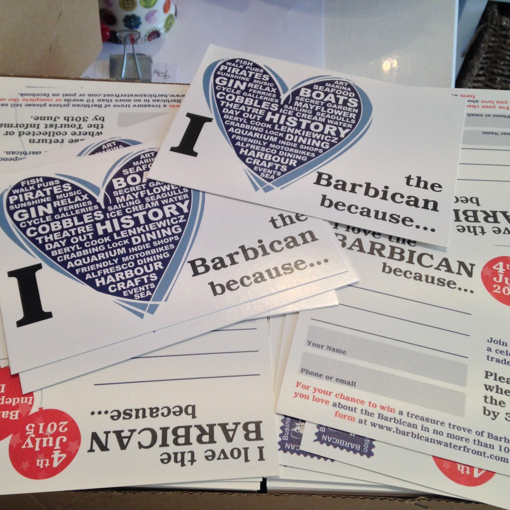 I love the barbican postcards