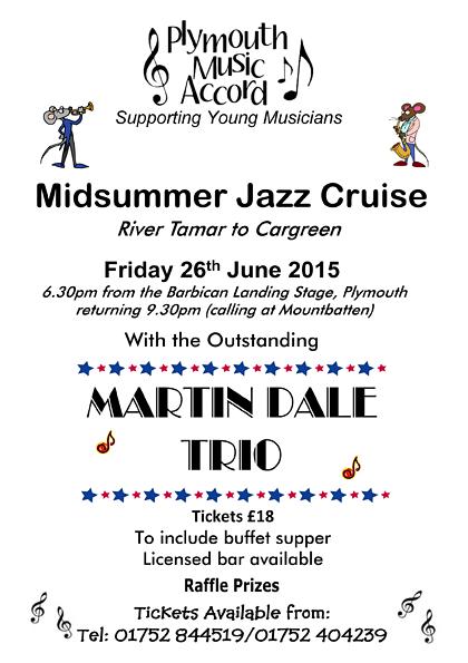 Plymouth Barbican - Jazz Cruise Flyer 2015 A4