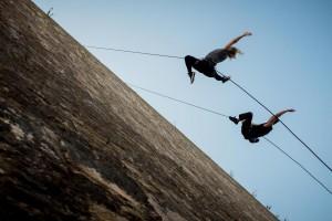 Plymouth Barbican wall Dancers