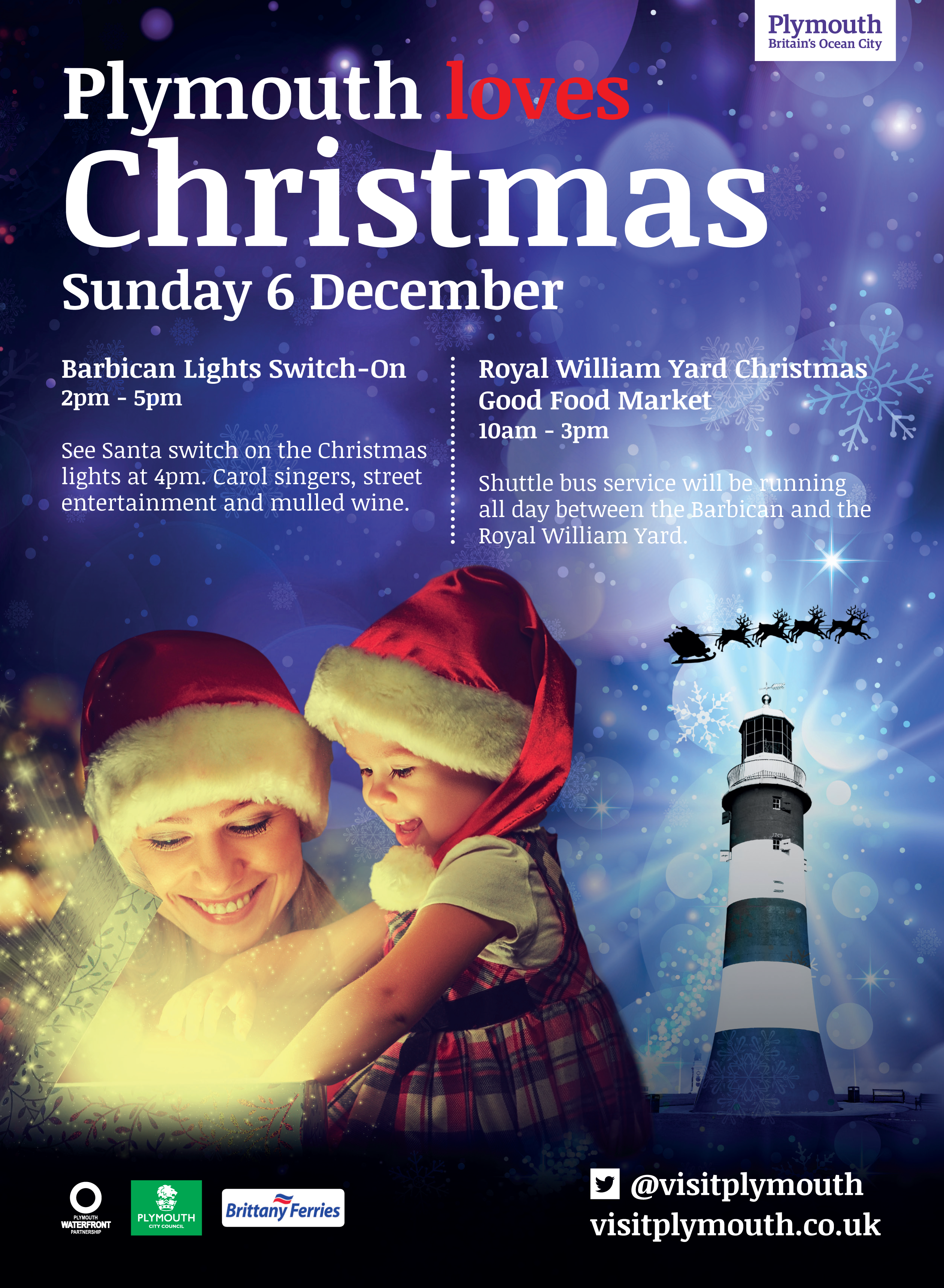 Event: Plymouth Barbican Christmas Light Switch On