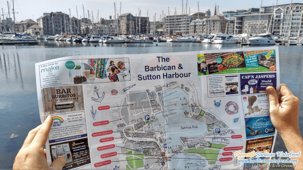 Plymouth Barbican and Sutton Harbour Map
