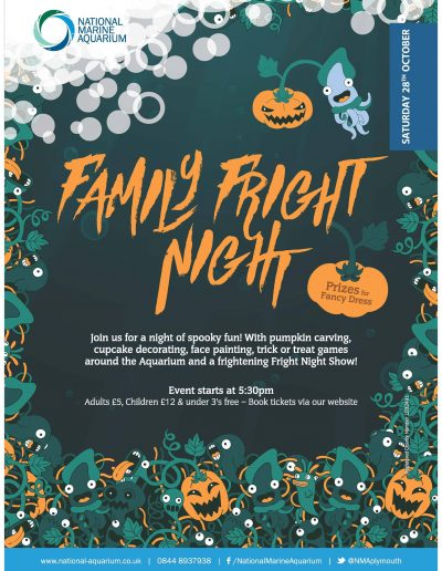 National Marine Aquarium - Family Fright Night