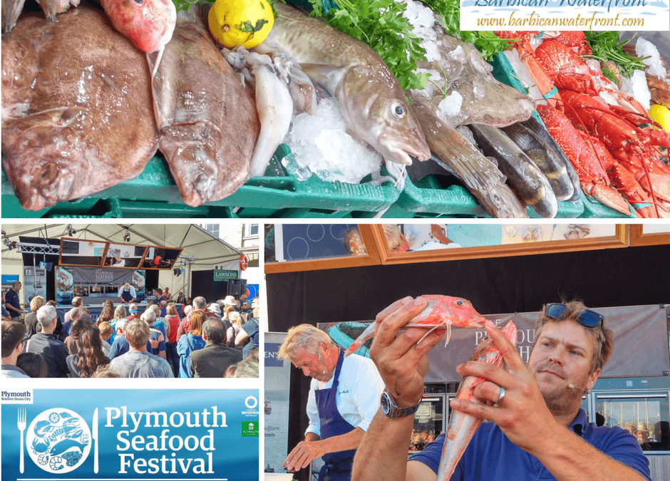 Plymouth Seafood Festival on the Barbican and Sutton Harbour