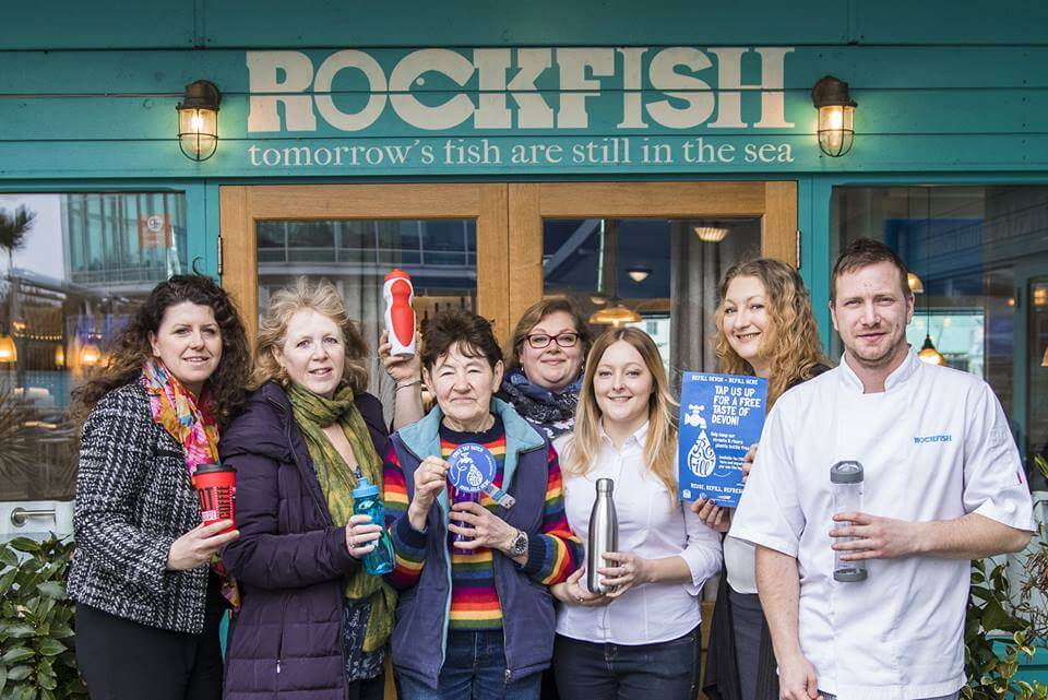 Free Water Refills Rockfish Plymouth PWP BID Barbican Waterfront News