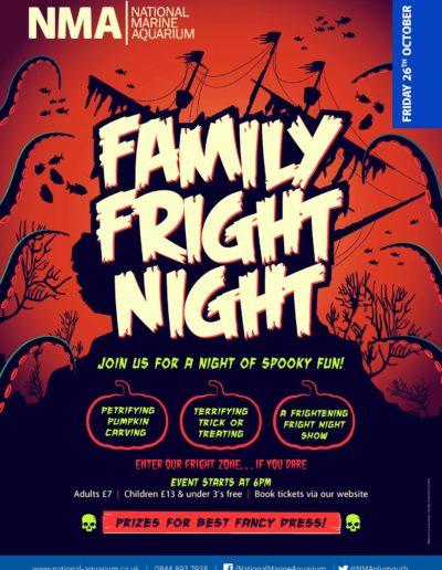 Family Fright Night National Marine Aquarium
