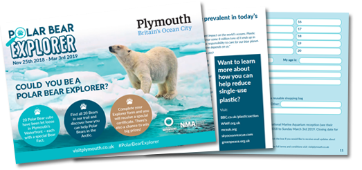 Polar Bear Explorer Trail hits the popular locations around Plymouth's Waterfront.