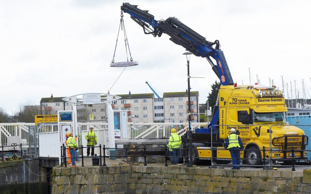 Bearing good news for Good Friday about lock footbridge