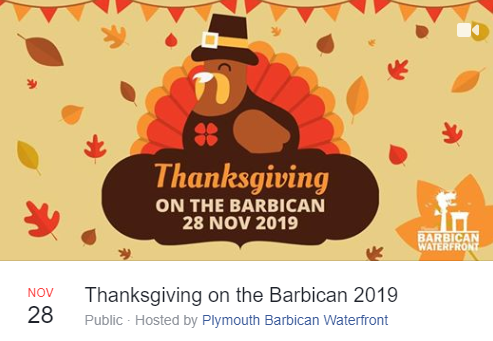 Happy Thanksgiving on the Plymouth Barbican 2019